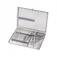 INFINITY SERIES COLLECTION ; 12 INSTRUMENT CASSETTE WITH ACCESSORY AREA. GREAT FOR ENDODONTIC STANDARD SET-UP